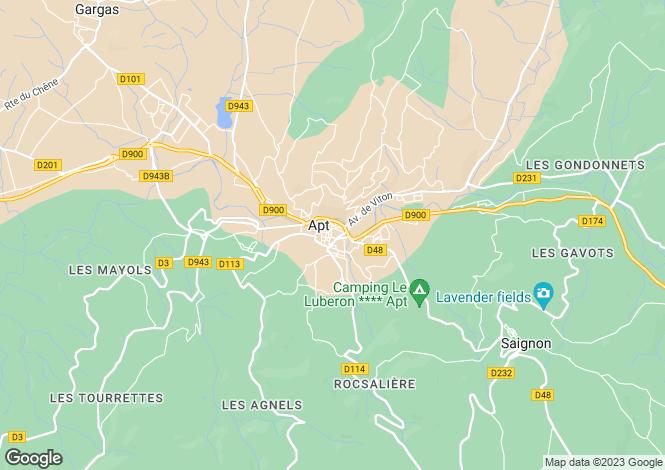 Map for Provence-Alps-Cote d`Azur, Vaucluse, Roussillon