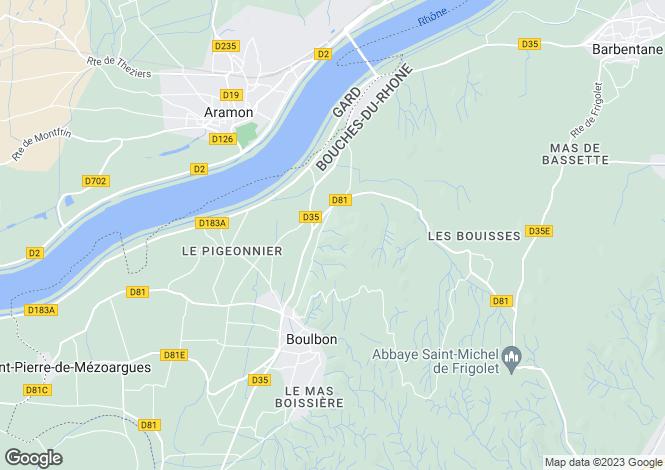 Map for BOULBON, Provence-Alpes-Côte d'Azur