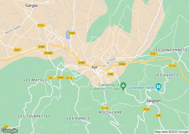 Map for Provence-Alps-Cote d`Azur, Vaucluse, Apt