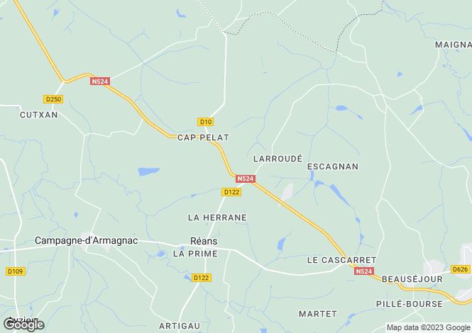 Map for Eauze, Gers, Midi-Pyrénées