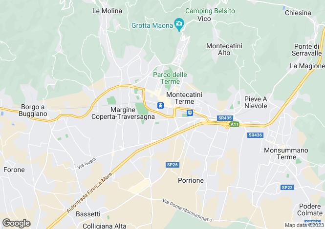 Map for Tuscany, Pistoia, Montecatini Terme