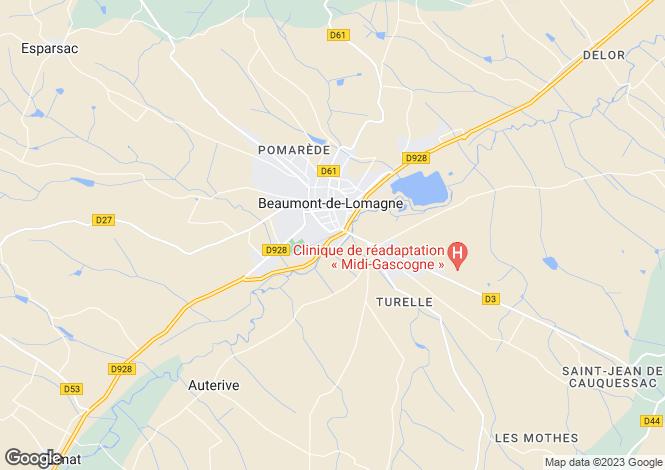 Map for BEAUMONT DE LOMAGNE, 82500, France