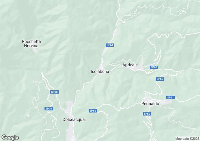 Map for Isolabona, Imperia, Liguria