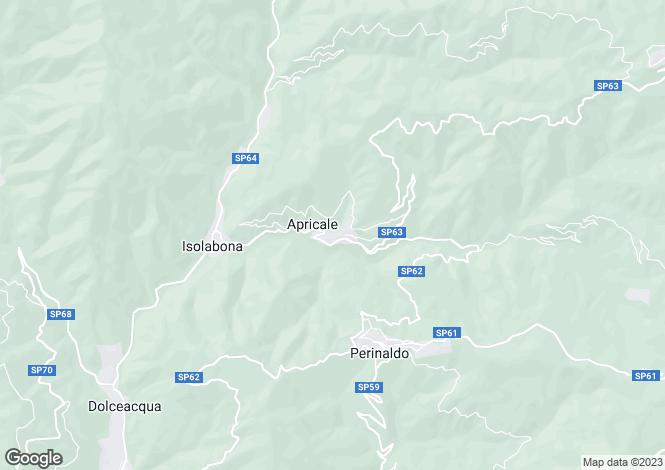 Map for Apricale, Imperia, Liguria