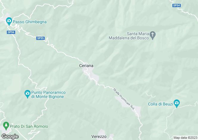 Map for Ceriana, Imperia, Liguria