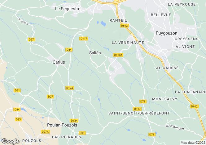 Map for salies, Tarn, France