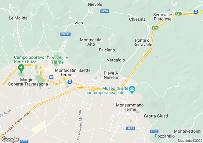 Map for Tuscany, Pistoia, Montecatini Terme