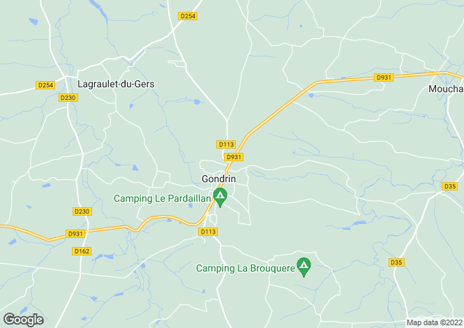 Map for gondrin, Gers, France