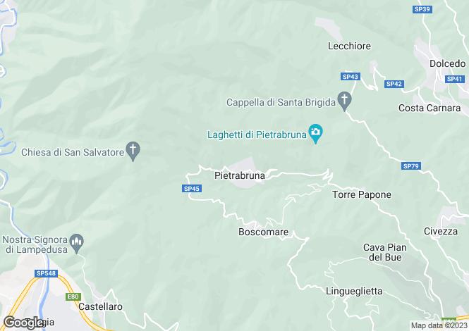 Map for Pietrabruna, Imperia, Liguria