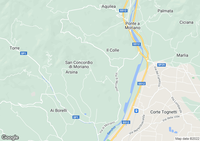 Map for Lucca, Tuscany, GK14-13