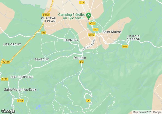 Map for Provence-Alps-Cote d`Azur, Alpes-de-Haute-Provence, Dauphin