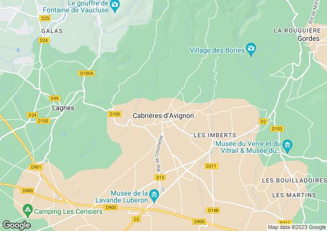 Map for Provence-Alps-Cote d`Azur, Vaucluse, Cabrieres d'Avignon