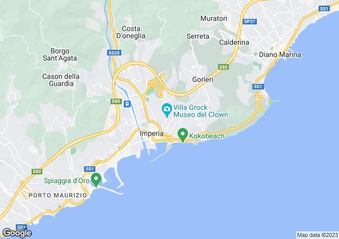 Map for Imperia, Liguria, Italy