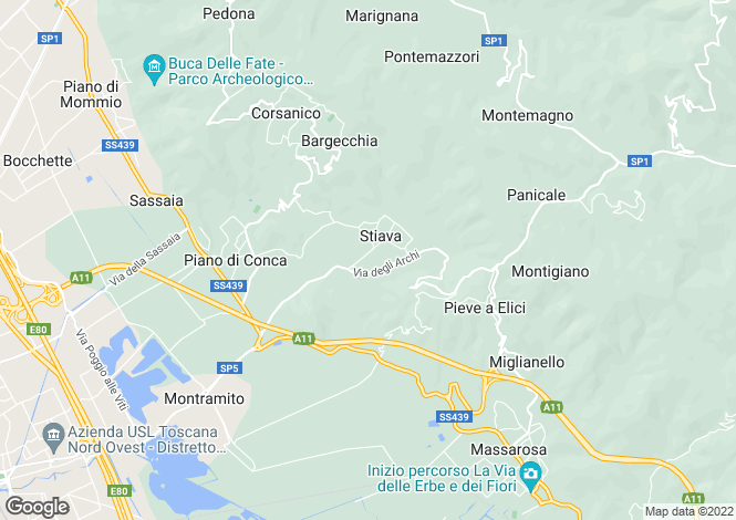 Map for Corsanico, Lucca, Italy