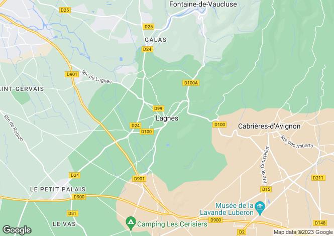 Map for Provence-Alps-Cote d`Azur, Vaucluse, Lagnes