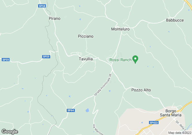 Map for Tavullia, Pesaro e Urbino, Le Marche