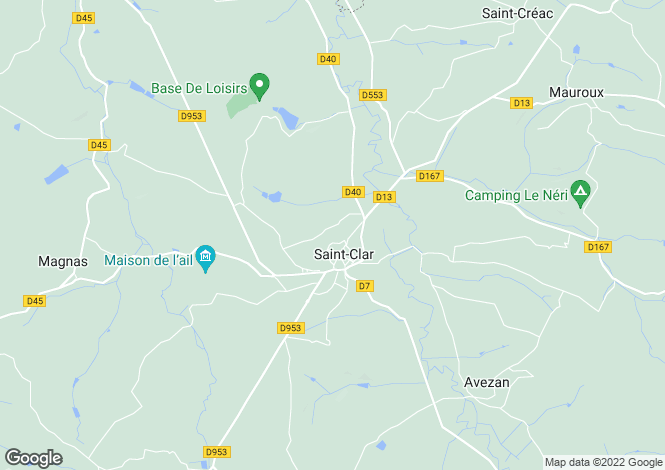 Map for Saint Clar, Gers, 32380, France