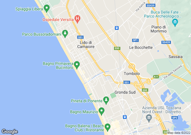 Map for Tuscany, Lucca, Camaiore