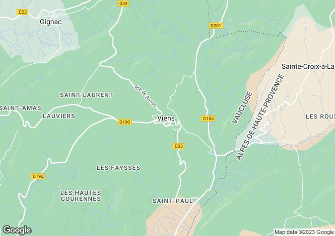 Map for Provence-Alps-Cote d`Azur, Vaucluse, Viens