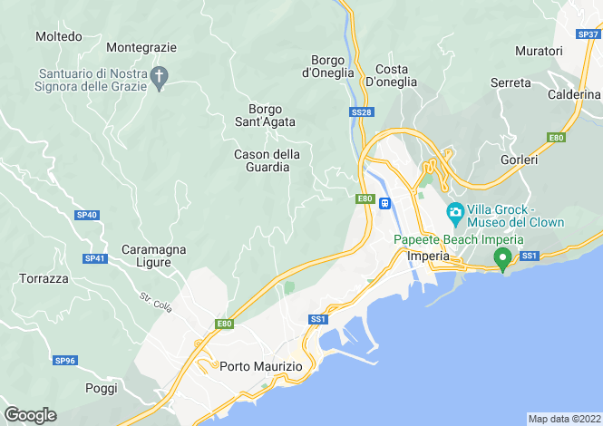 Map for Imperia, Imperia, Liguria
