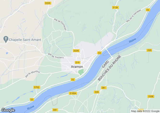 Map for Languedoc-Roussillon, Gard, Aramon