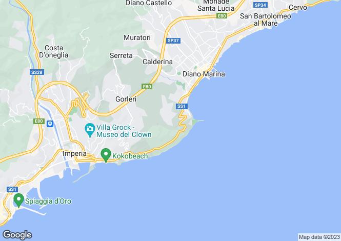 Map for Liguria, Imperia, Diano Marina