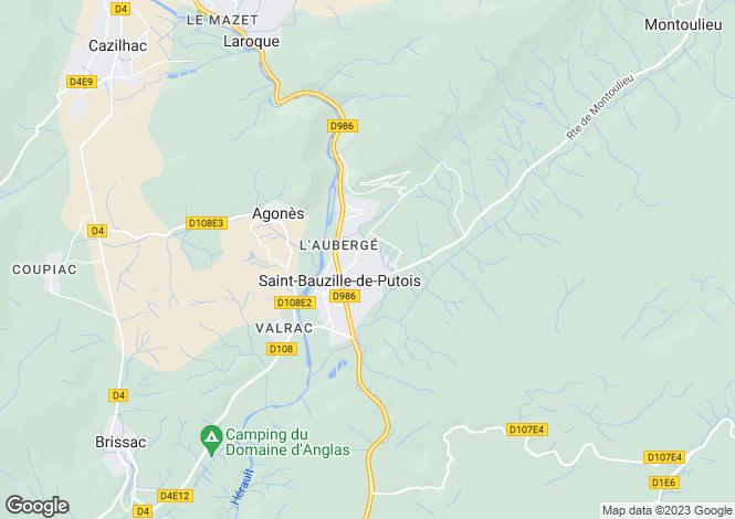 Map for st-bauzille-de-putois, Hérault, France