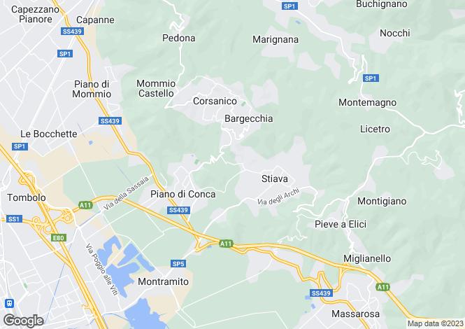 Map for Via Valentino, Massarosa, 55054, Italy