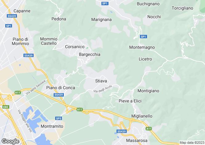 Map for Massarosa, Lucca, Tuscany
