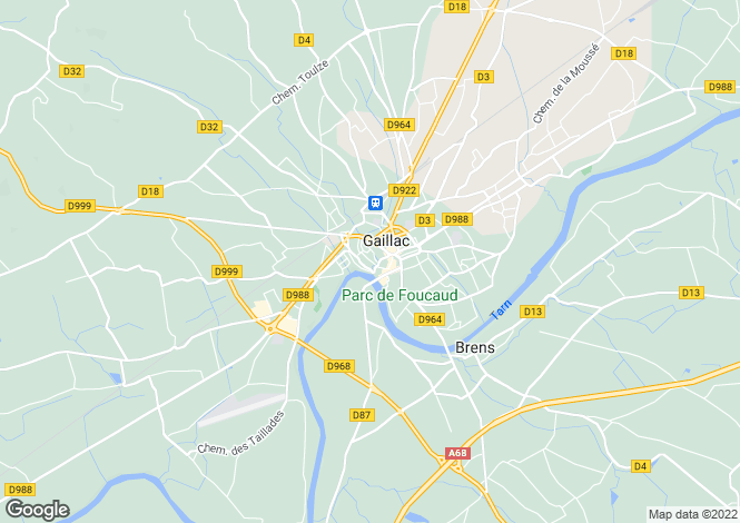 Map for GAILLAC, Tarn (Albi/Castres), S.W France - Midi-Pyrenees,