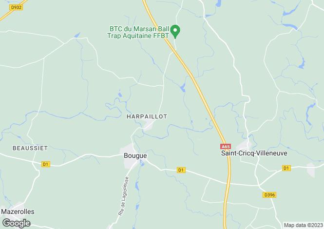 Map for bougue, Landes, France