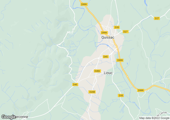 Map for liouc, Gard, France