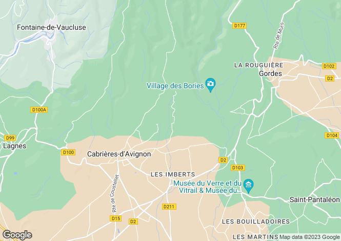 Map for CABRIERES D AVIGNON, Nîmes, Avignon, Uzès Area, Provence - Var,