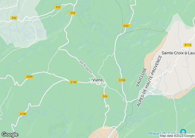 Map for viens, Vaucluse, France