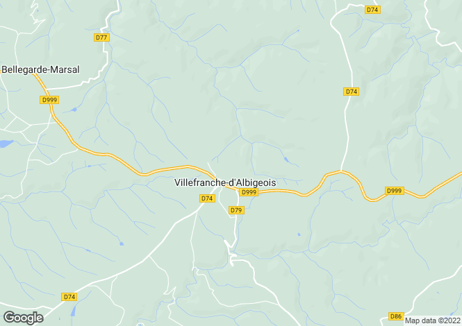 Map for villefranche-dalbigeois, Tarn, France