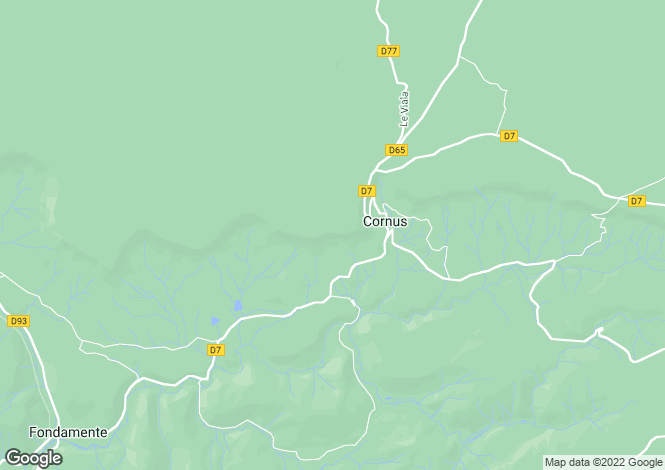Map for Midi-Pyrenees, Aveyron, Cornus