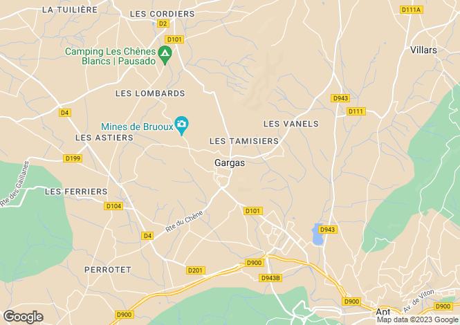 Map for Provence-Alps-Cote d`Azur, Vaucluse, Gargas