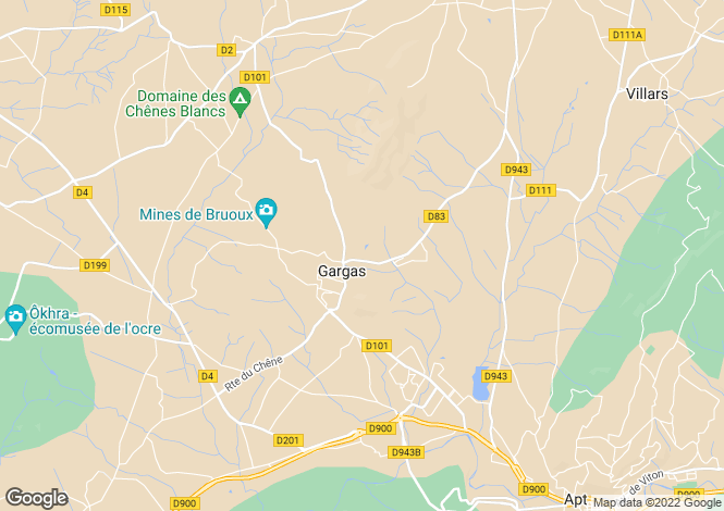 Map for gargas, Vaucluse, France