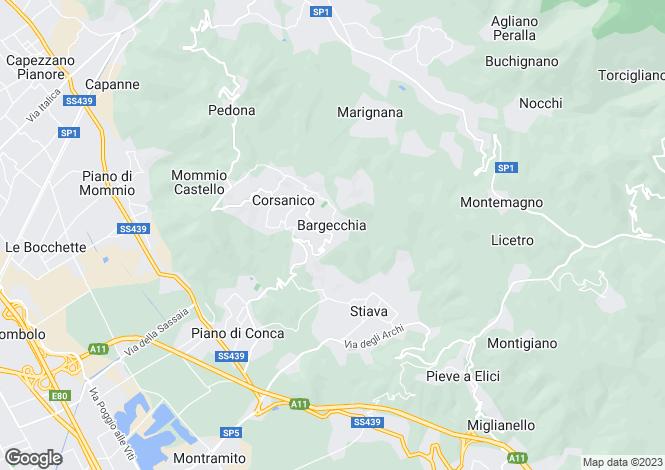 Map for Tuscany, Lucca, Massarosa