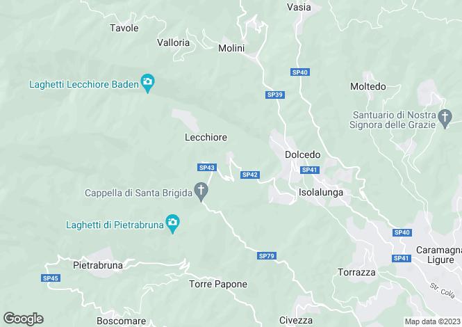 Map for Dolcedo, Imperia, Liguria