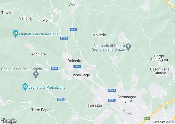 Map for Liguria, Imperia, Dolcedo