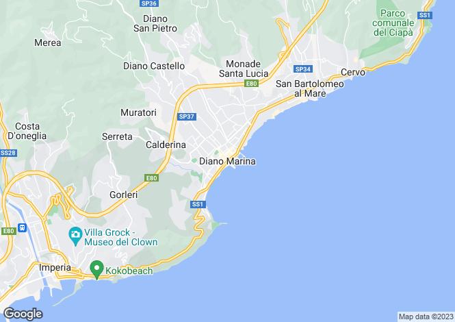 Map for Diano Marina, Liguria, Italy