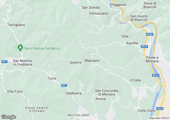 Map for La Capella, Arsina, Tuscany, Italy