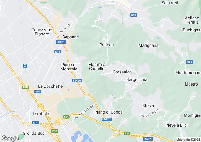 Map for Italy - Tuscany, Lucca, Massarosa