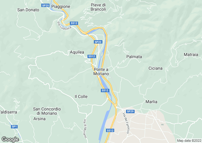 Map for Ponte A Moriano, Tuscany, Italy