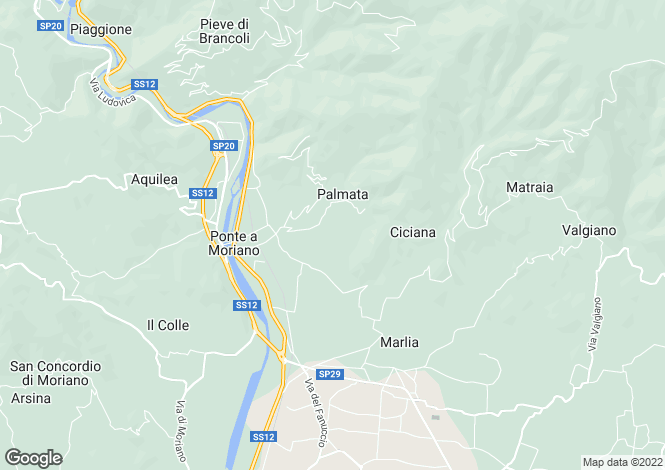 Map for Vicopelago, Lucca, Italy