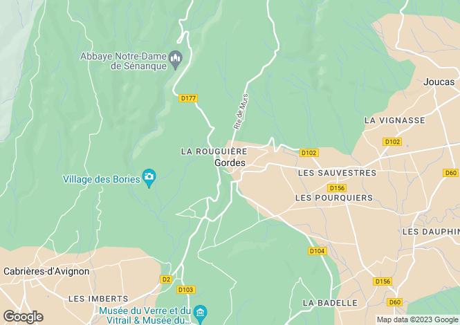 Map for Provence-Alps-Cote d`Azur, Vaucluse, Gordes