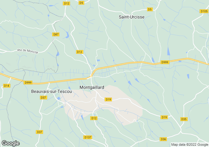 Map for montgaillard, Tarn, France