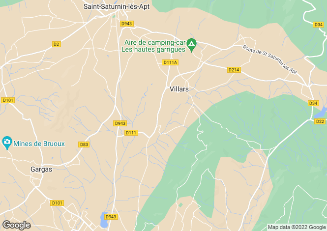 Map for villars, Vaucluse, France