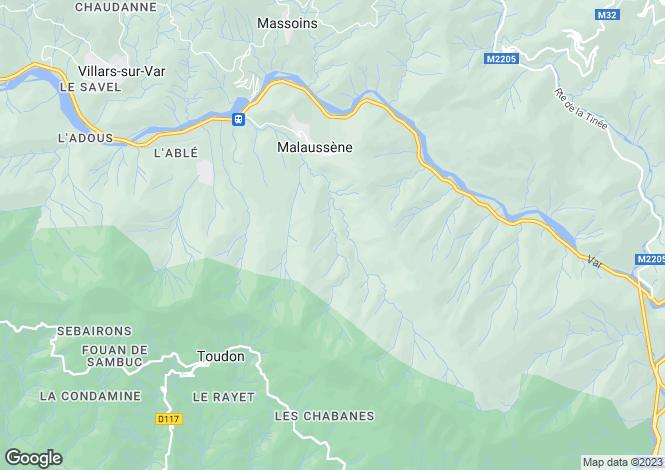 Map for Malaussène, Alpes-Maritimes, Provence-Alps-Cote d`Azur